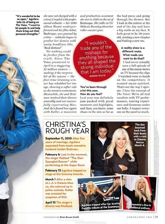 Xtina on cover of US Weekly (June 2011) 3-1