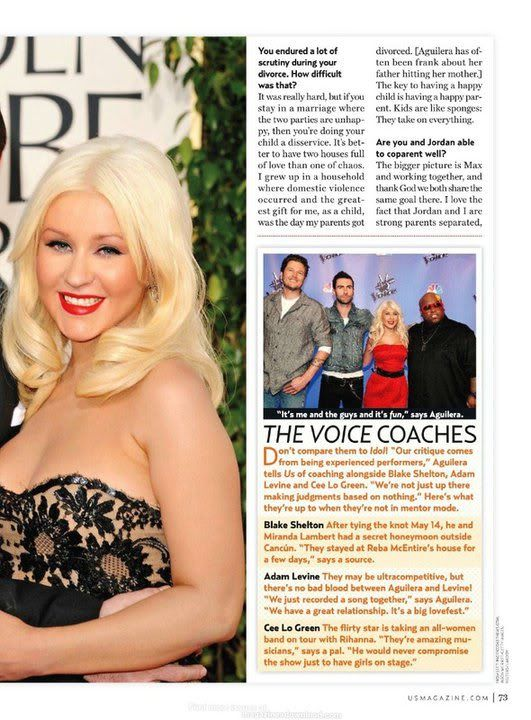 Xtina on cover of US Weekly (June 2011) 5
