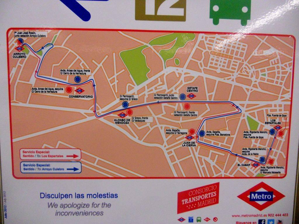 Cierre de Metrosur por problemas de cimentación durante el verano de 2012 DSCN4406