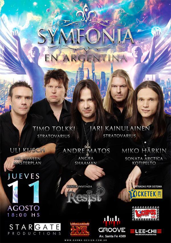 Symfonia en Argentina - 11/08 en Groove. Afiche_Symfonia1