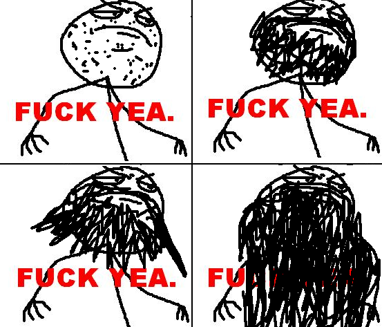 [memes]Fuck Yea!, Forever Alone, Fuuuu, Challenge Acepted y Problem? Fuck_Yea_beard