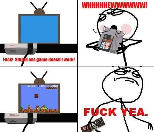 [memes]Fuck Yea!, Forever Alone, Fuuuu, Challenge Acepted y Problem? Nintendofuck-yea