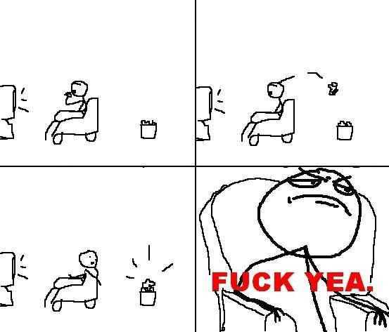 [memes]Fuck Yea!, Forever Alone, Fuuuu, Challenge Acepted y Problem? Sillon