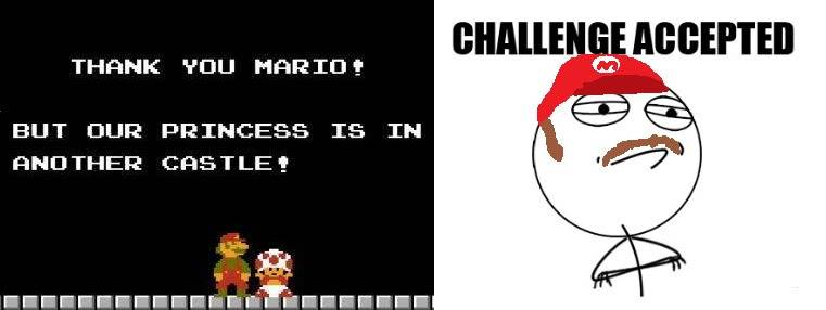 [memes]Fuck Yea!, Forever Alone, Fuuuu, Challenge Acepted y Problem? Marioprincessjpg
