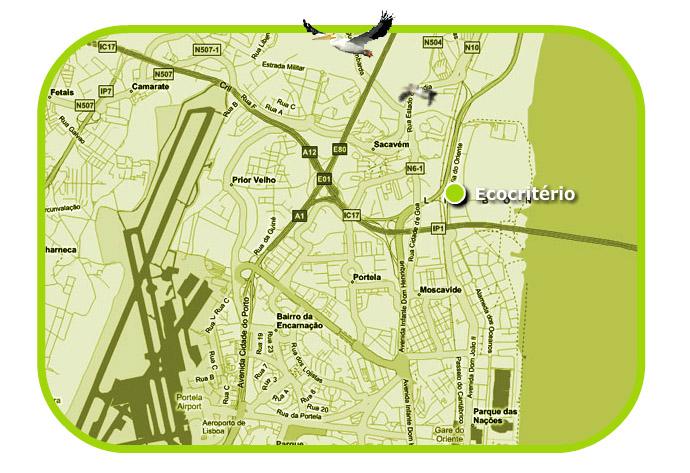 Vem experimentar uma ELÉTRICA Mapa_Ecocritrio