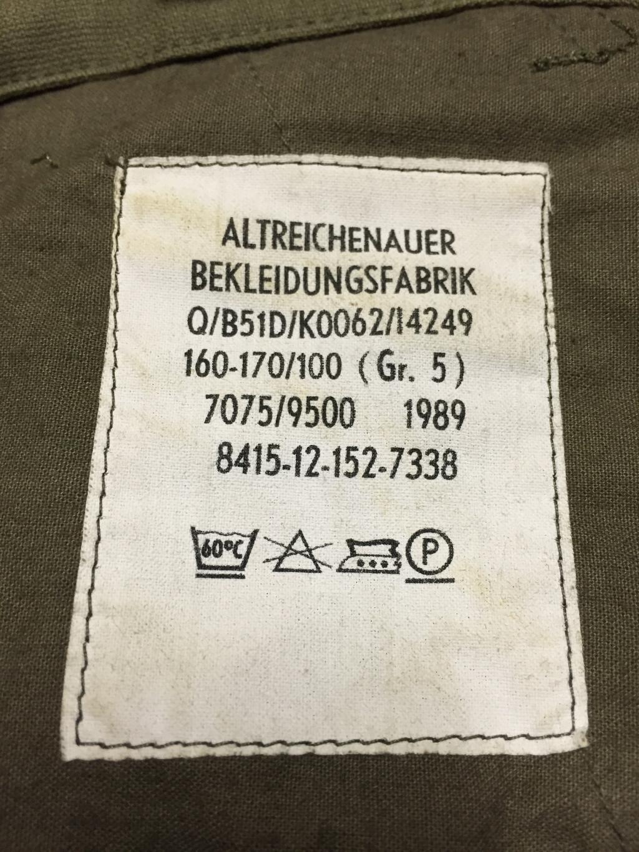 Bundeswehr Gebirgsjäger Kniebundhosen Image3