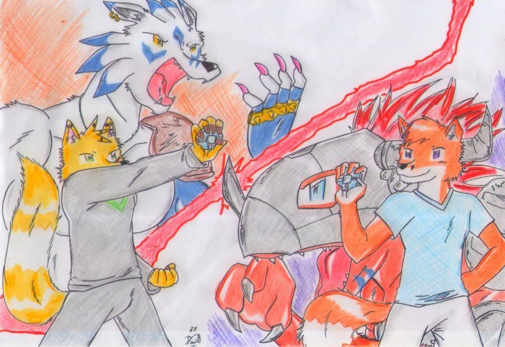 Digimon battle: Weregarurumon v.s Metal greymon  1344029202dashthefox_img370