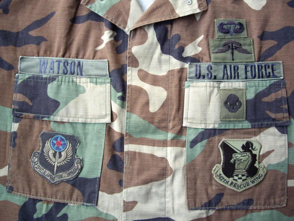How to put tab,badge,patch,rank on USAF and Civil Air Patrol BDU pattern. IMGP1172