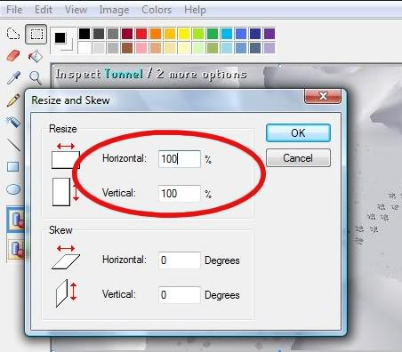 How to take, edit and post a screen shot Resizebox