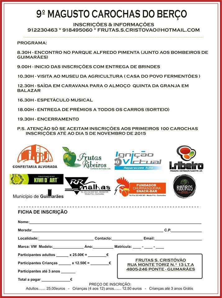 9º Magusto Carochas do Berço - 8 novembro 2015 - Guimarães 12122911_777411839068849_1719636848303130904_n_zpsee7xoluc