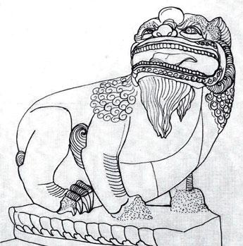 Các mẫu sư tử đá Việt Nam 'thuần chủng' 03CHUAPHATTICH