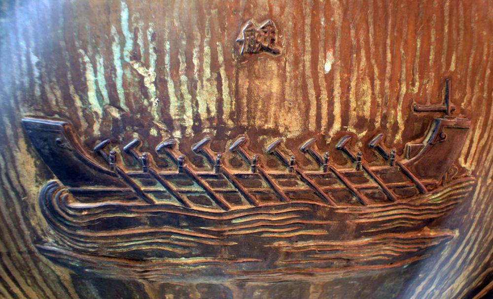 Hình tượng chiến thuyền trên Cửu Đỉnh nhà Nguyễn  Chien-thuyen-Cuu-Dinh-05