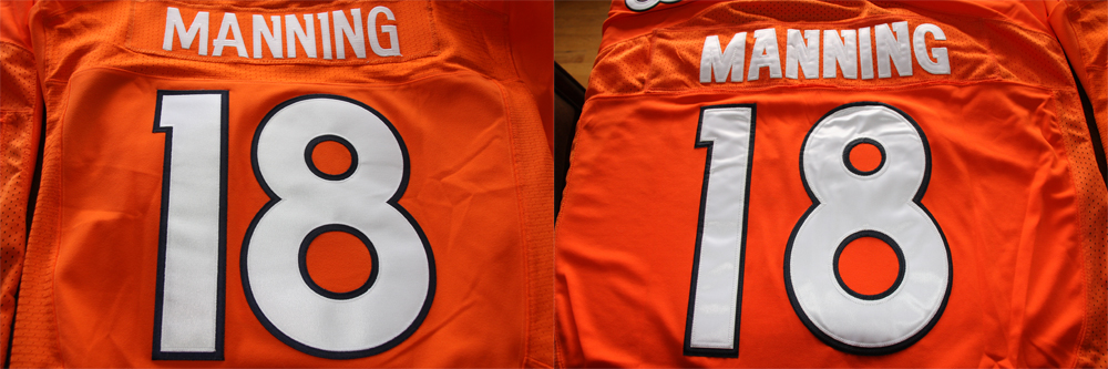 Real Vs Fake - 2012 Nike Elite Jersey Comparison BackComparison