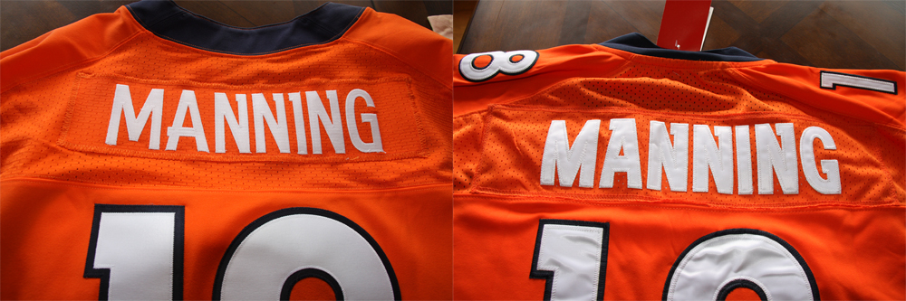 Real Vs Fake - 2012 Nike Elite Jersey Comparison NamePlateComparison