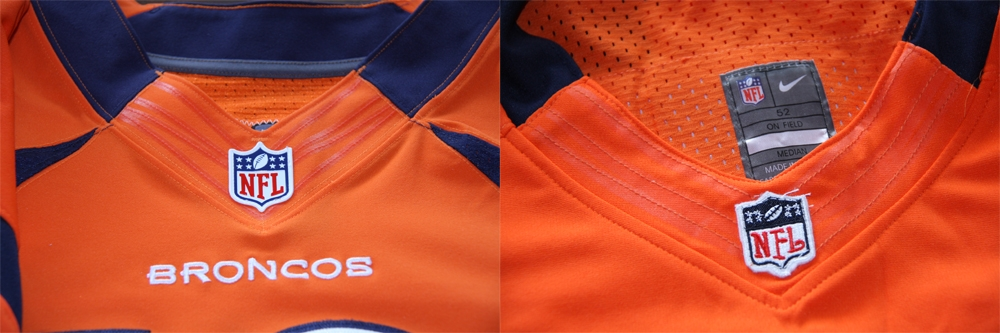 Real Vs Fake - 2012 Nike Elite Jersey Comparison NeckComparison