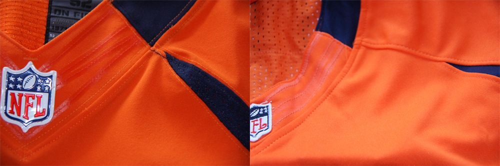 Real Vs Fake - 2012 Nike Elite Jersey Comparison NeckStitchingComparison