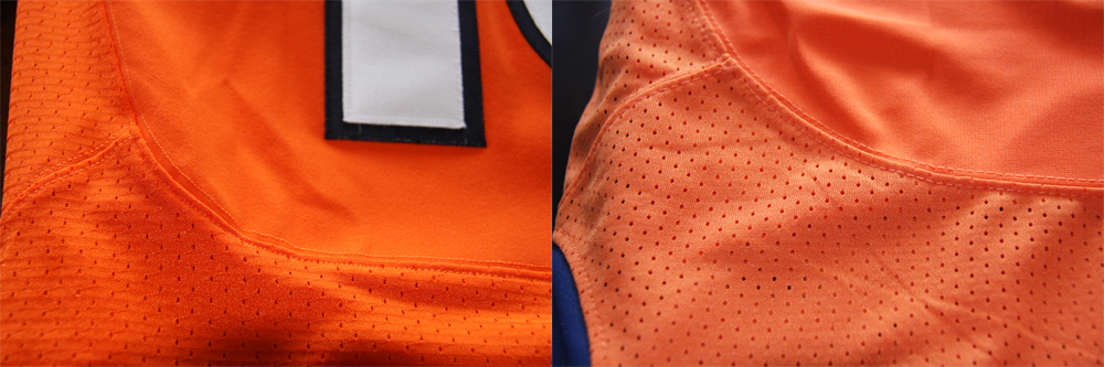 Real Vs Fake - 2012 Nike Elite Jersey Comparison StitchingComparison