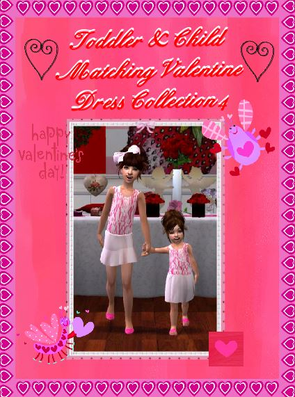 Colour Sims [February 2014] ToddlerampChildMatchingValentineDressCollection3banner_zpsdefede47