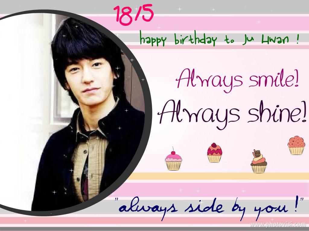 Happy 30th birthday to Ju Hwan Bdccb8628c9048a29ed427b