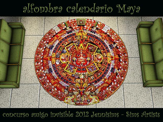 """SIMS ARTISTS  Y  JENNISIMS En el """"Amigo Invisible"""" MAGIC NIGHT Sw_concursoAmigoInvisible2012_alfombraCalendarioMaya"""