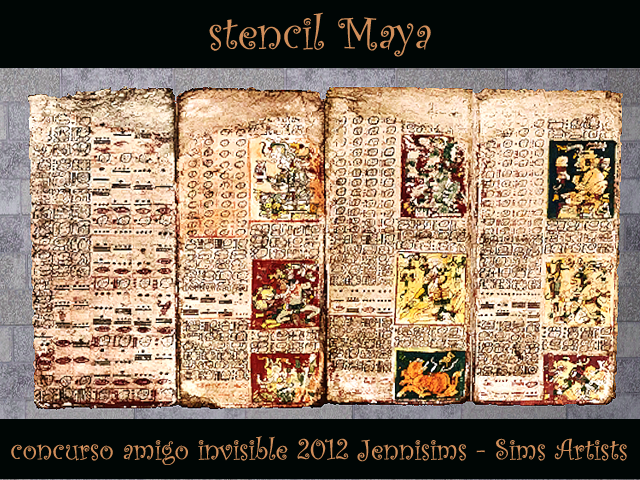 """SIMS ARTISTS  Y  JENNISIMS En el """"Amigo Invisible"""" MAGIC NIGHT - Página 2 Sw_concursoAmigoInvisible2012_stencilMaya"""