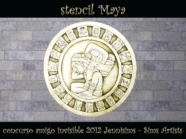 """SIMS ARTISTS  Y  JENNISIMS En el """"Amigo Invisible"""" MAGIC NIGHT - Página 2 Sw_concursoAmigoInvisible2012_stencilredondelMaya"""