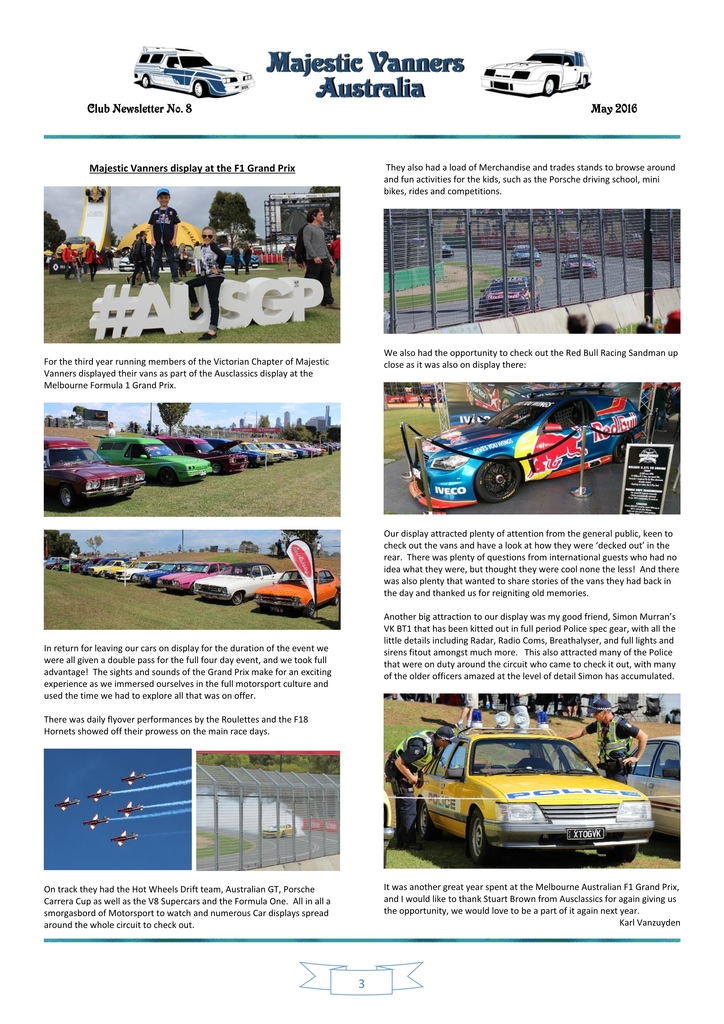 Majestic Vanners Newsletter Issue No. 8 May 2016 03_zpsgoabaujr