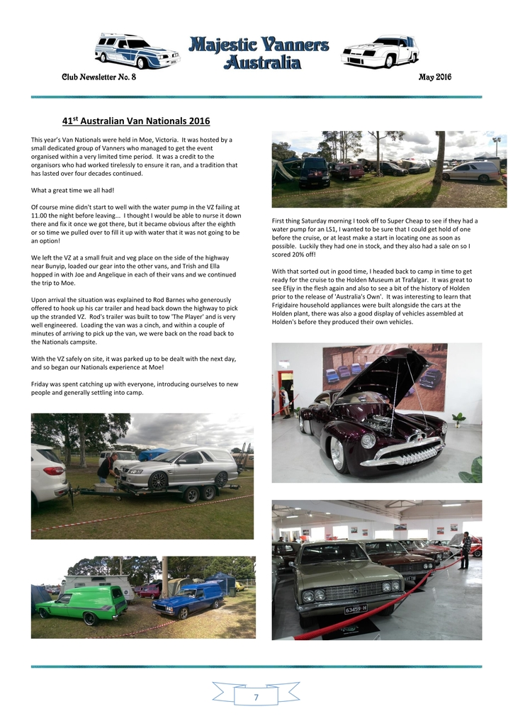 Majestic Vanners Newsletter Issue No. 8 May 2016 07_zpsoapi5csr