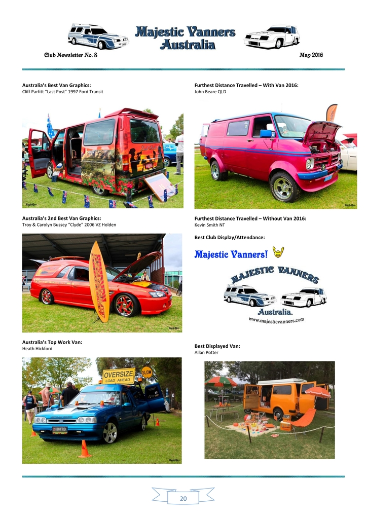 Majestic Vanners Newsletter Issue No. 8 May 2016 20_zpsfklihw8r