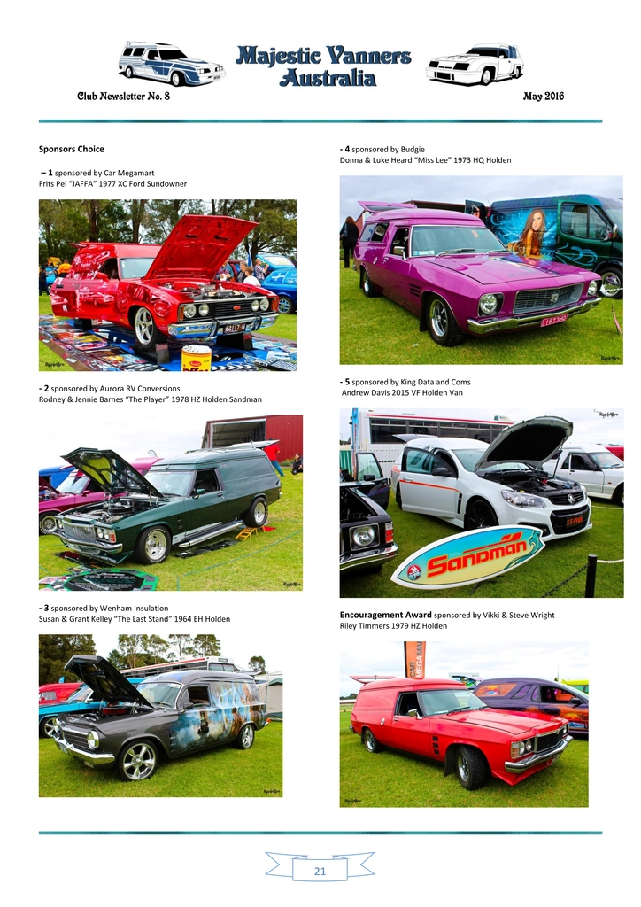 Majestic Vanners Newsletter Issue No. 8 May 2016 21_zpsqjr2sswg