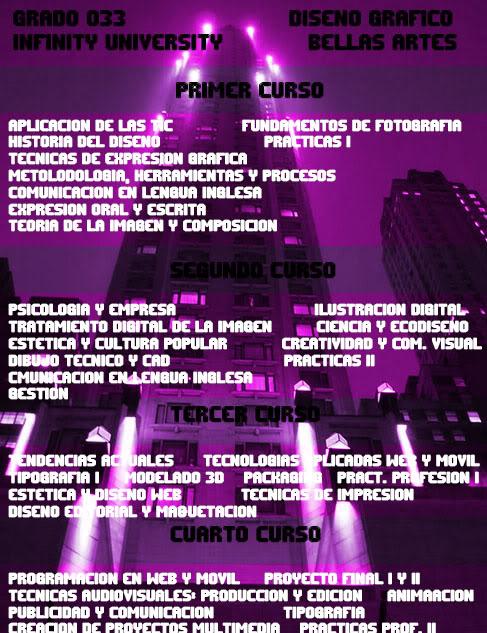 Grados Ofertados por Infinity University BellasArtes3