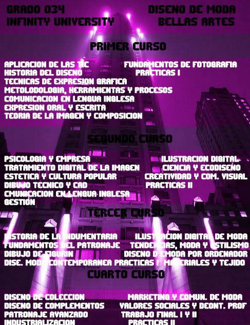 Grados Ofertados por Infinity University BellasArtes4