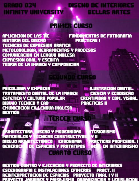 Grados Ofertados por Infinity University BellasArtes5