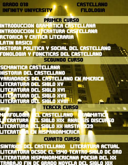 Grados Ofertados por Infinity University Filologia3