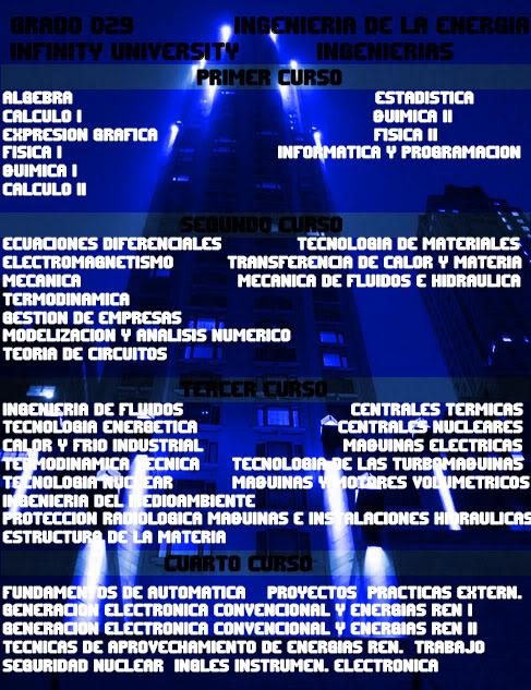Grados Ofertados por Infinity University Tecnicas5