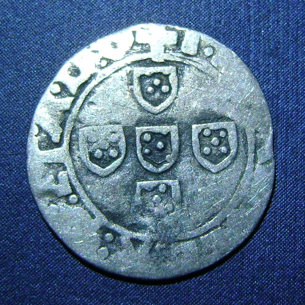 Medio Vintem de D. Manuel I o de D. Juan III. N