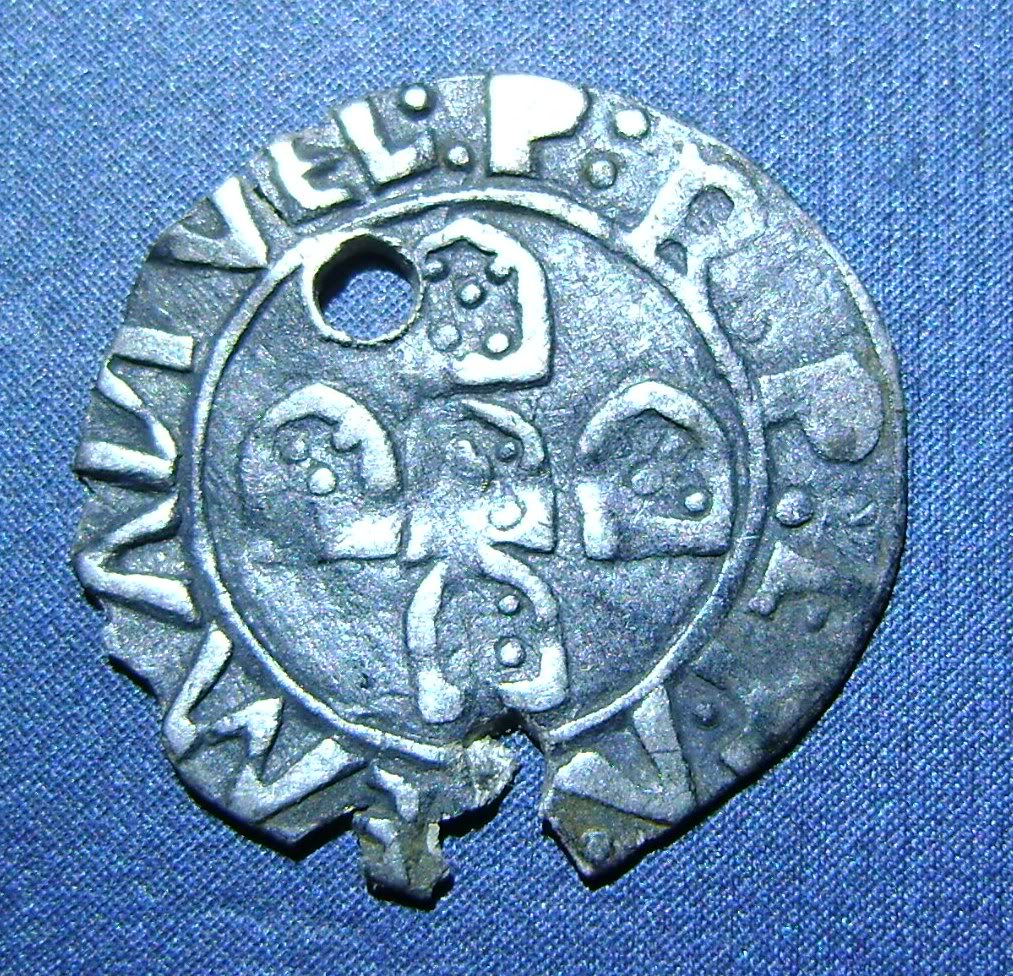Medio Vintem de D. Manuel I (Oporto, 1495-1521). O
