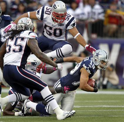 Patriots Game Worn Gloves & Armbands Ninkovichvcowboys