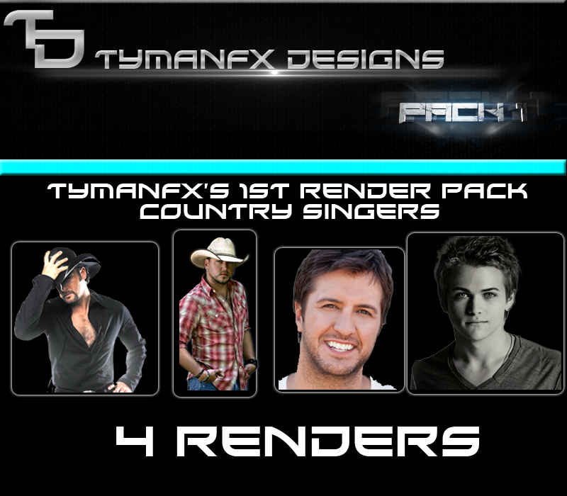 Country Singers- Render Pack #1-TymanFx- AlbumArt