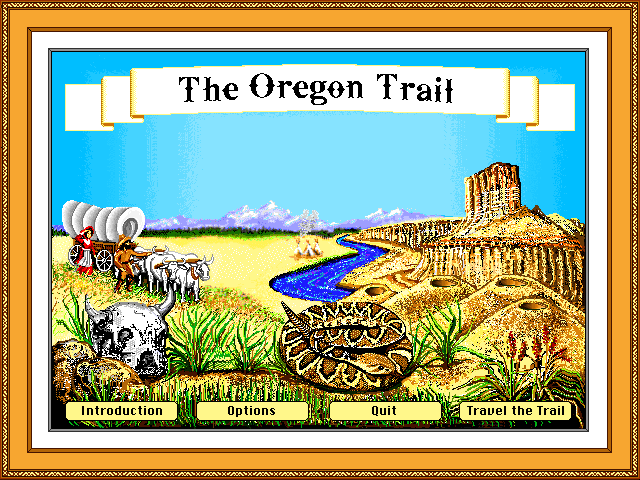 Trailing for Adventure - An Oregon Trail LP OregonTrailMenu