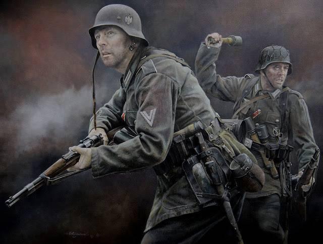 Οχυρά γραμμής Μεταξά - Σελίδα 6 MauserK98RifleGermanyWorldWar2OilPainting