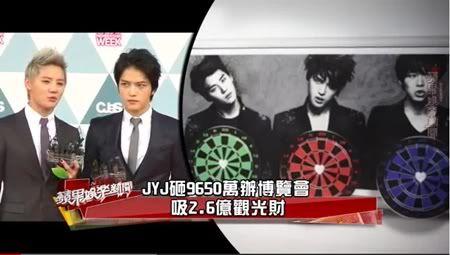 """VIDEO """"TV de Taiwan"""" - JYJ gasta NT$ 96.45 millones en la exposición para sus fans (02/07/2012) Tyehhhh"""