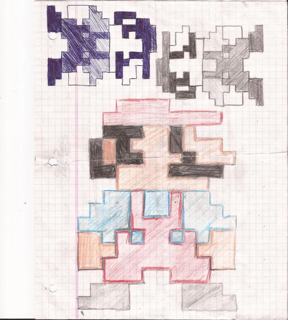 Un par de Dibujos Mario