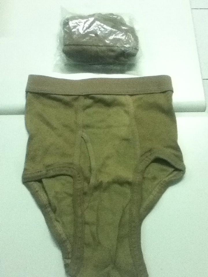USGI unused Mens Brown underwear... 7788B0A1-11F2-46B2-8248-90F72082C7B5-6973-0000052F25346C63