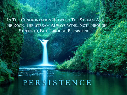 NEVER GIVE UP!!! Persistence