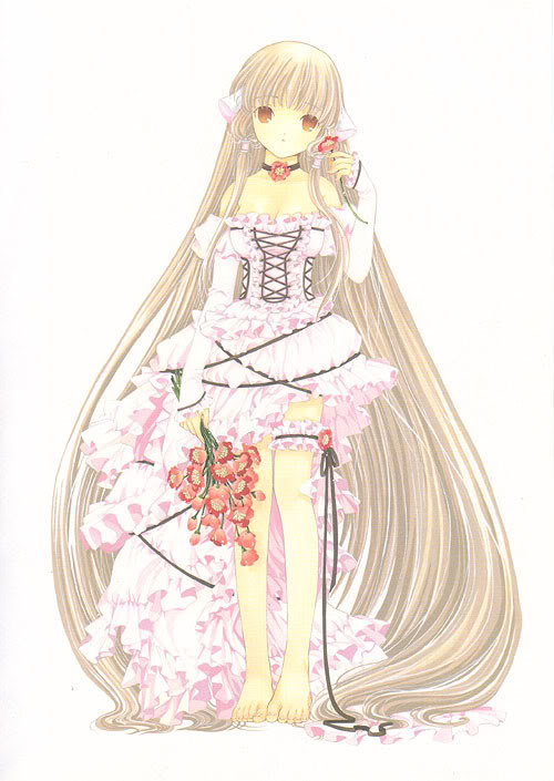 TOP30 Animegirls Chobits-chii-in-pink-dress