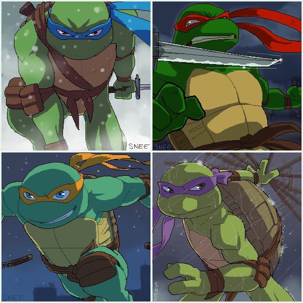 Tartarugas Ninja TMNT_oekakidump_02_by_sneefee