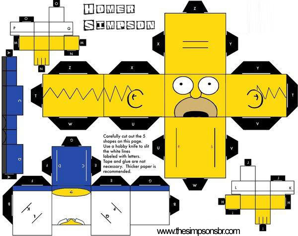 Recorte e Cole! Paper_craft_homer_simpson_b
