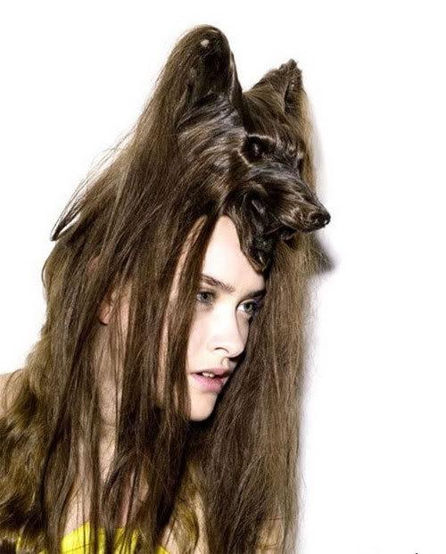 Cortes de cabelo em forma de animais Ccr-04