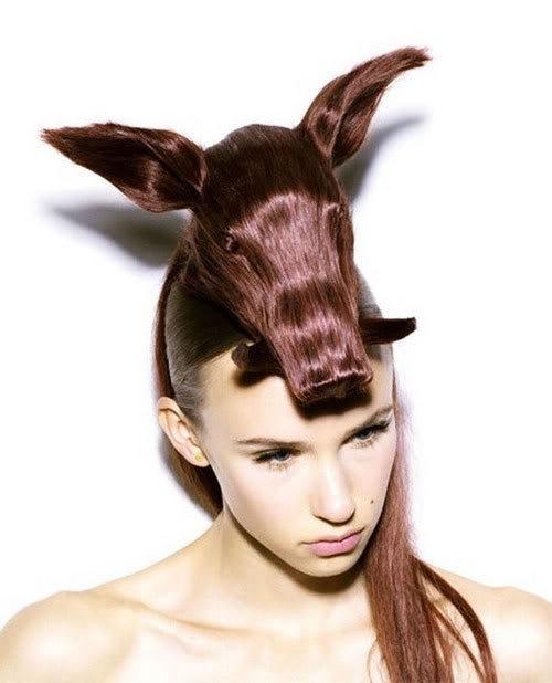 Cortes de cabelo em forma de animais Ccr-10